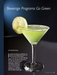Beverage Programs Go Green