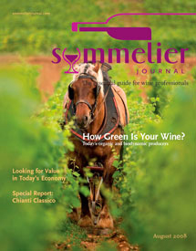 Sommelier Journal Cover, August 2008